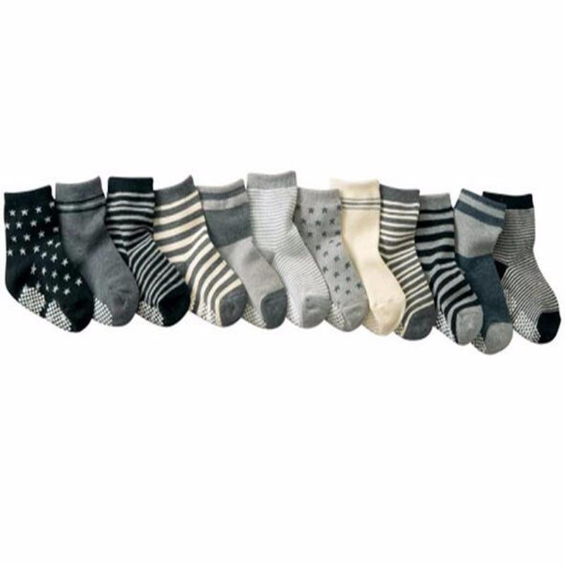 5 Pairs Boys Socks Kids Cotton Back School Autumn Ankle Socks Age 2-10 years
