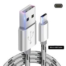 Cable de carga rápida para Xiaomi Cable rojo mi USB para Samsung Galaxy S7 S8 A3 A5 para Xiaomi mi 4 Red mi Note 5 6 Pro LG Sony