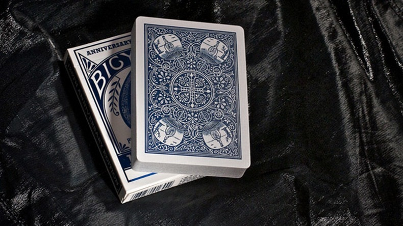 1pcs Bicycle 125th Anniversary Special Edition Deck Blue/Red Magic Cards Playing Card Poker Close Up Stage Magic Tricks Props