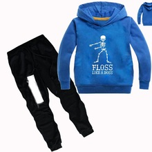 DLF 2-16Y Floss Like a Boss Clothing Baby Girls Sets Kids Boutique Clothes Top Hoodies Pants 2pcs set Teenagers Casual Tracksuit