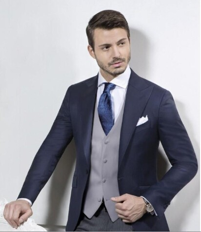 Aliexpress.com : Buy Custom Made Mens Tuxedo Suits Navy Blue