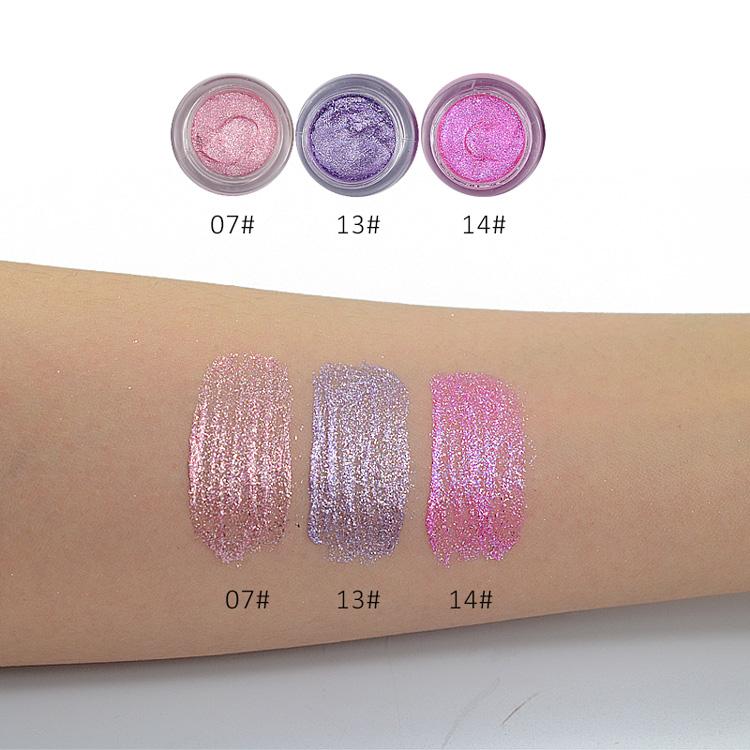 LOVE ALPHA 16 Colors Eye Shadow Professional Eyes Makeup Glitter Single Color Eyeshadow Gel Party Brand Cosmetics Flash Powder (27)