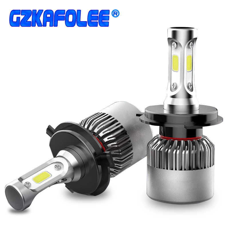 2pcs S2 H10 H8 H1 H3 H7 H4 LED H11 9005 9006 9012 H27 880 881 9004 9007 9003 9008 COB 36W 4000LM Car Headlight Bulbs Fog lamp