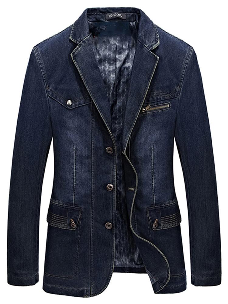 Hommes Kam Big Taille Heavy Duty Western Veste En Jean Classique Workwear 2-8XL