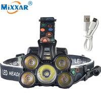 Nzk20 5 CREE XM L T6 LED Headlamp Headlight 18000LM Powerful Head Lamp Fishing HIking Light