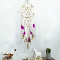 Handmade Tapestry Dream Catcher Net With Feather Mandala Wall Hanging Craft Gift Home Decor macrame Tapestries murale mandalas