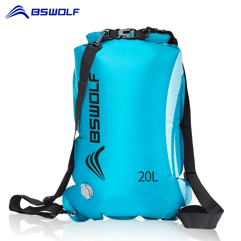 BSWolf 10L/20L Dry/Waterproof, Camping, Boating, and Kayaking Bag 1