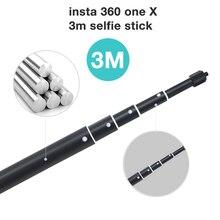 Insta360 one X przedłużenie 3m przedłużenie drążka Selfie Stick stop aluminium dla Insta 360 One X Monopod kamera panoramiczna akcesoria