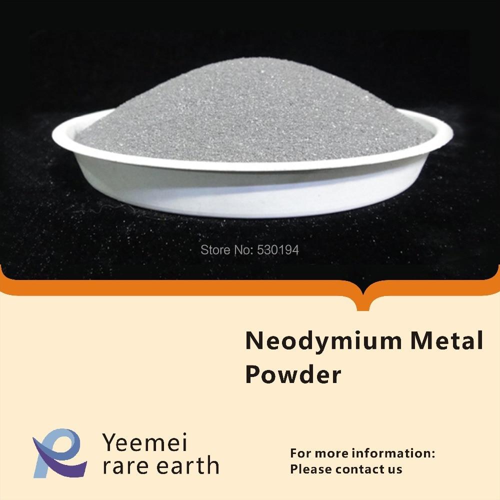 где купить Rare earth metal powder -- 99.99% Neodymium metal powder дешево