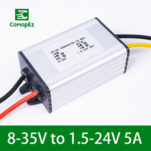 цена на DC DC Voltage Converter 8-35V to 1.5-24V 5A Step Up Down Module Regulator Power Supply for Cars Industrial Equipment Led Lights