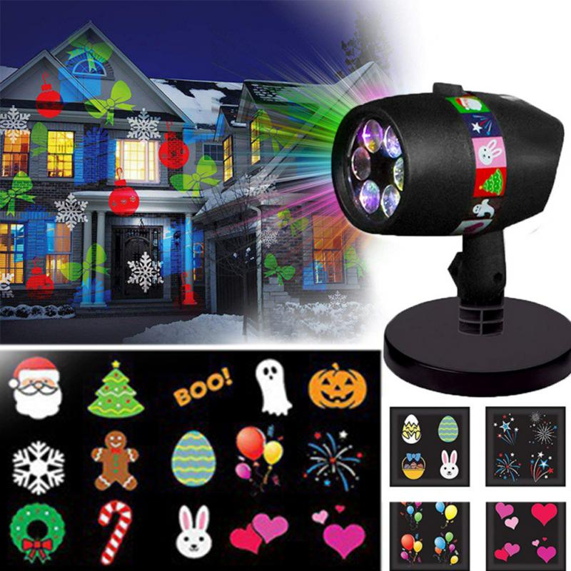 Waterproof Laser Projector Lamps LED Stage Light Christmas Halloween Landscape Garden Lamp Outdoor Lighting недорого
