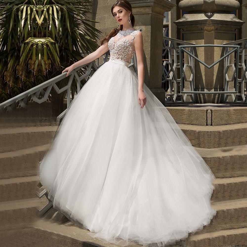 Champagne Color Wedding Dresses Vestidos De Noiva 2017: Wedding Dress Luxury Sexy Champagne Satin Ivory Organza