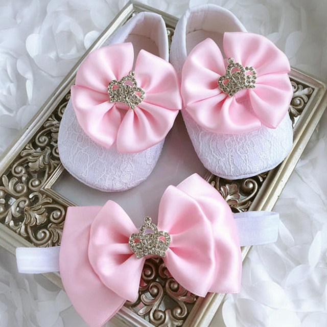 8d05a7a71588 Custom Sparkle pink bow princess rhinestone baby Shoes handmade pearl baby  toddler bling First Walkers baby