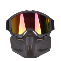 Motorrad Brille Maske Winddicht Mund Filter Offenes Gesicht Tragen mit Heltmet UV400 Motorrad Sonnenbrille Schild
