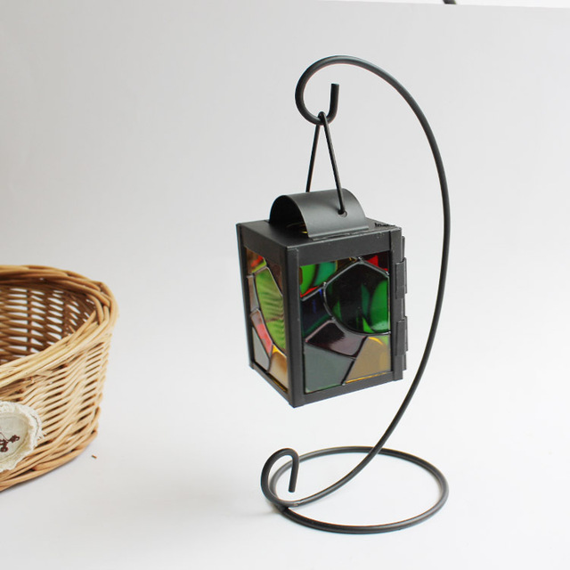 Aliexpress.Com : Buy Stained Glass, Wrought Iron Candle Holder