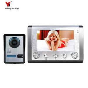 Yobang, бесплатная доставка, 7 дюймов, видеодомофон, видеодомофон, громкая связь, система, монитор, открытый, с водонепроницаемым