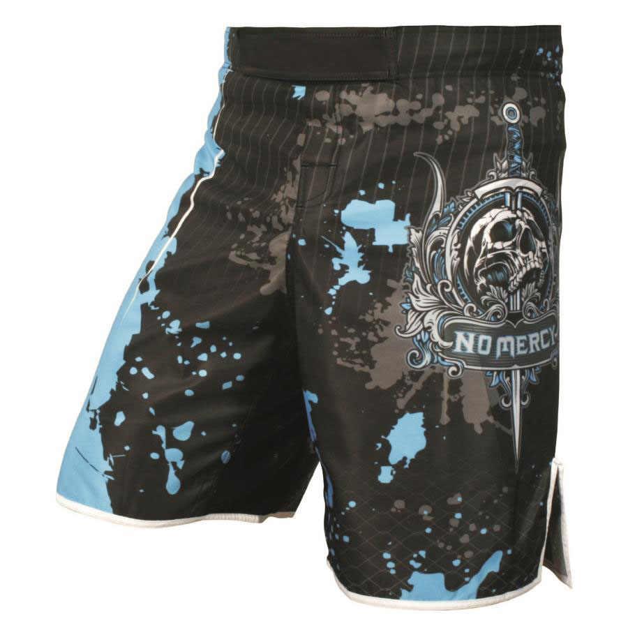 Pantalones cortos para artes marciales color gris estampado de camuflaje