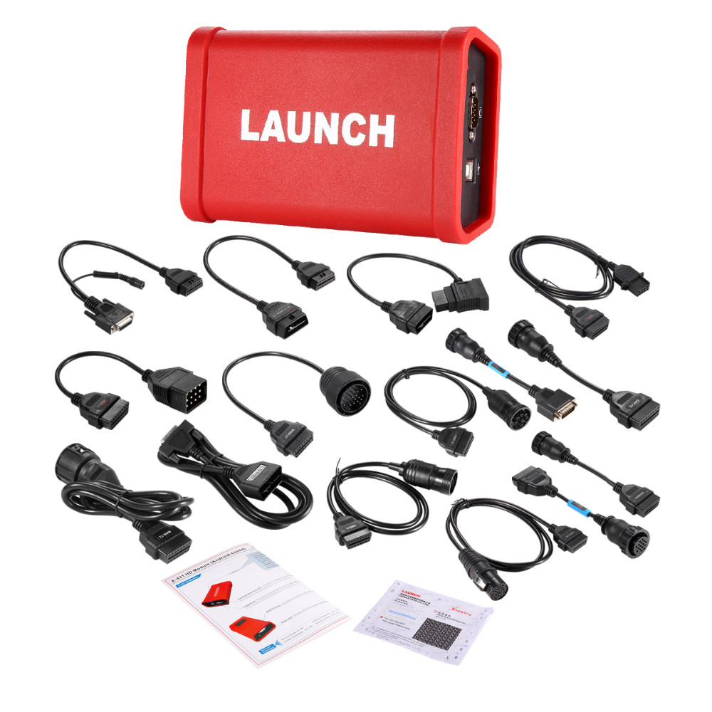 Original Launch X 431 Heavy Duty adapter Truck Diagnostic Tool Works Together with X431 V+/PRO 3/PAD II