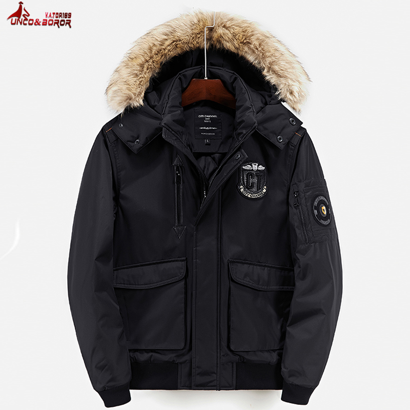 UNCO&BOROR new 2018 Men Military Air Parkas Winter Jackets And Coats outwear Men Thick Warm Flight bomber Jacket parka Coat