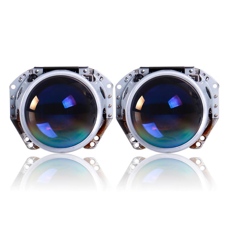 Auto lumières 3 pouces hella5 projecteur lentille film bleu lentille voiture Hid projecteur ampoule D2S D2H moto phare HID lentille