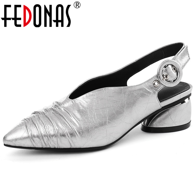 FEDONAS 2019 New Fashion Sexy Women Pumps Classic Design Top Quality Genuine Leather Shoes Woman Elegant Pointed Toe Rome Shoes FEDONAS 2019 New Fashion Sexy Women Pumps Classic Design Top Quality Genuine Leather Shoes Woman Elegant Pointed Toe Rome Shoes