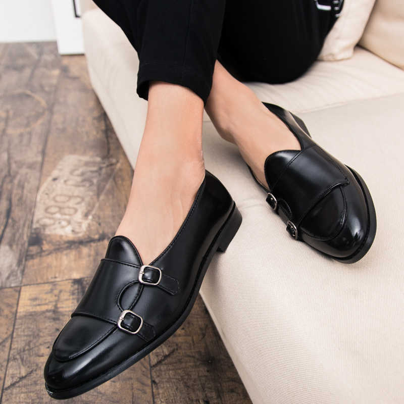 Pu Leather Mens Loafers Luxury Brand Mens Fashion Footwear Rubber Soles Mens Casual Shoes Slip On Red Brown Loafer Shoes Men in Men 39 s Casual Shoes from Shoes