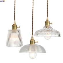 IWHD медный скандинавский стеклянный подвесной светильник, светильники для столовой, гостиной, подвесные лампы, светодиодный подвесной светильник ing Lampara Colgante Lampen