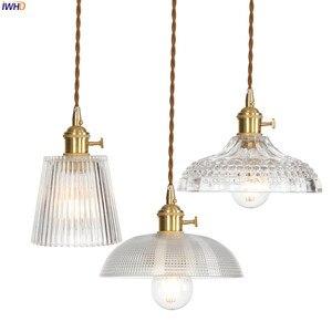 Image 1 - IWHD Copper Nordic Glass Pendant Light Fixtures Dinning Living Room Hanging Lamps LED Pendant Lighting Lampara Colgante Lampen