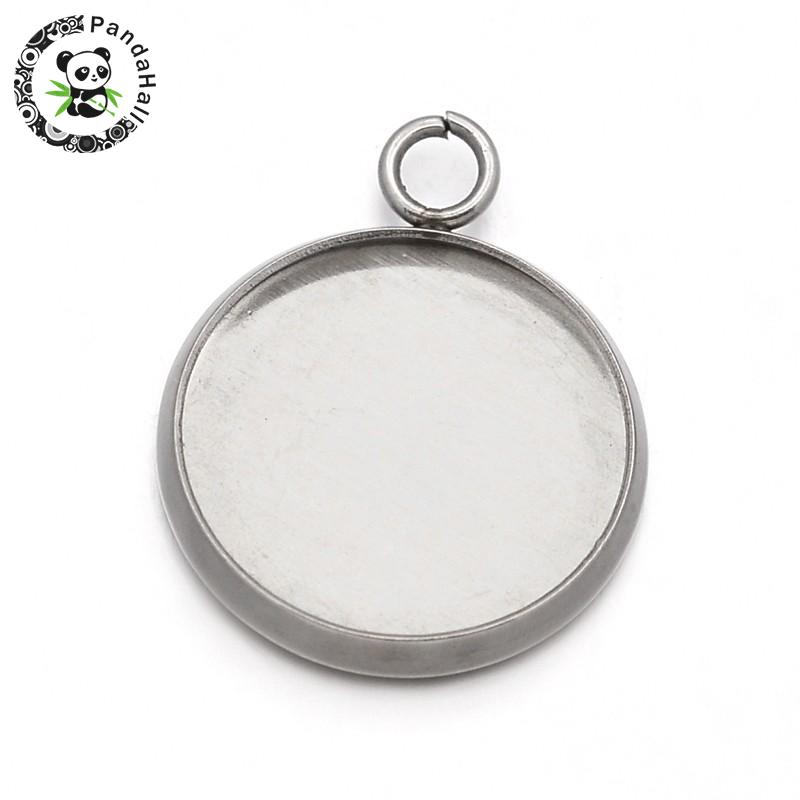 Cheap Price Pandahall 10pcs 20mm Stainless Steel Metal Jewelry Findings Pendant Cabochon Settings Flat Round Beads & Jewelry Making Back To Search Resultsjewelry & Accessories