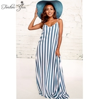 2018 Plus Size Sexy Deep V neck Long Dresses Pink Spaghetti Strap Hollow Out Beach Dress Women Clothing Loose Female Striated