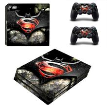 Batman VS Superman PS4 Pro Skin Sticker For Sony PlayStation 4 Console and Controllers PS4 Pro Skin Stickers Decal Vinyl