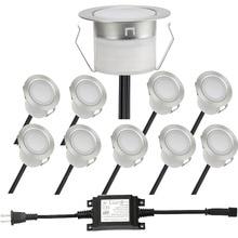 10pcs Lots Inserted LED Stair Light Stainless Steel LED Floor Lights DC12V Outdoor Fixtures Lighting Light
