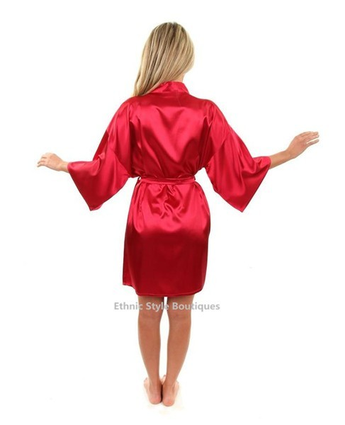 Mini Silk Sleepwear Sexy Rayon Kimono Dress Gown