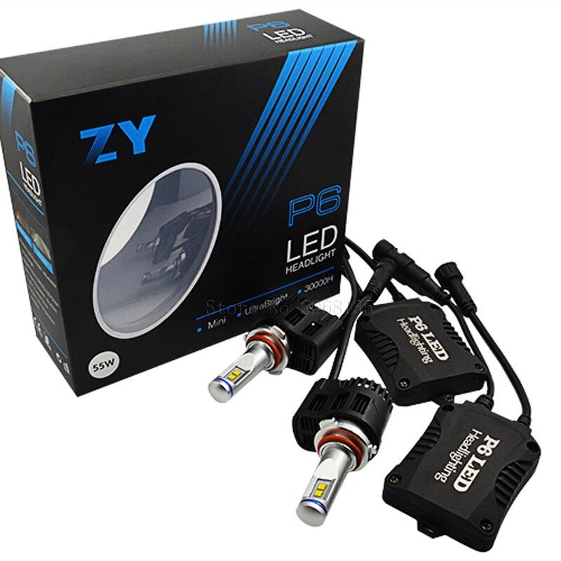 цена на HB4 LED 3000K 4000K 5000K 6000K P6 LumiLEDs LMZ 10400lm Auto Car LED Bulb Headlight Fog Light Conversion Kit