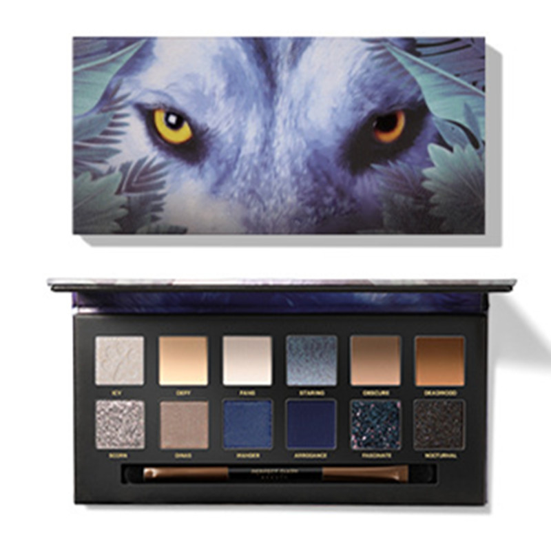 2019 New Explorer 12 Color Eye Shadow Palette Shadow Powder Diamond Flash Matte Smokey Eye Makeup Cosmetic Set Waterproof