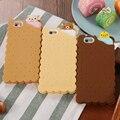 Casos de teléfono para apple iphone 5 5s se 6 6 s plus caso caso lindo de la historieta 3d galleta couque cubierta suave del silicio para iphone 6 Souple