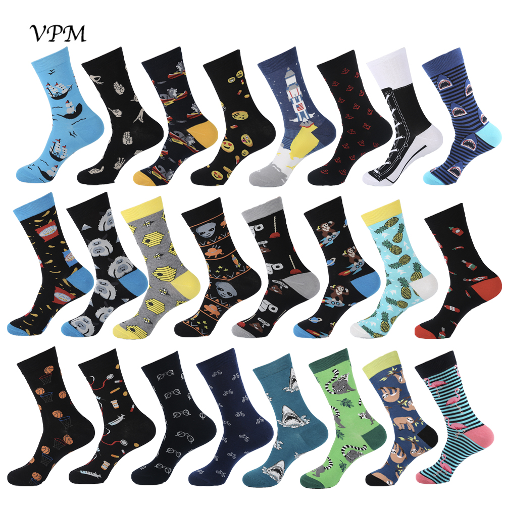 VPM Dress Socks Alien Pills Poop Christmas-Gift Harajuku Funny Happy Wedding Hiphop Cotton title=