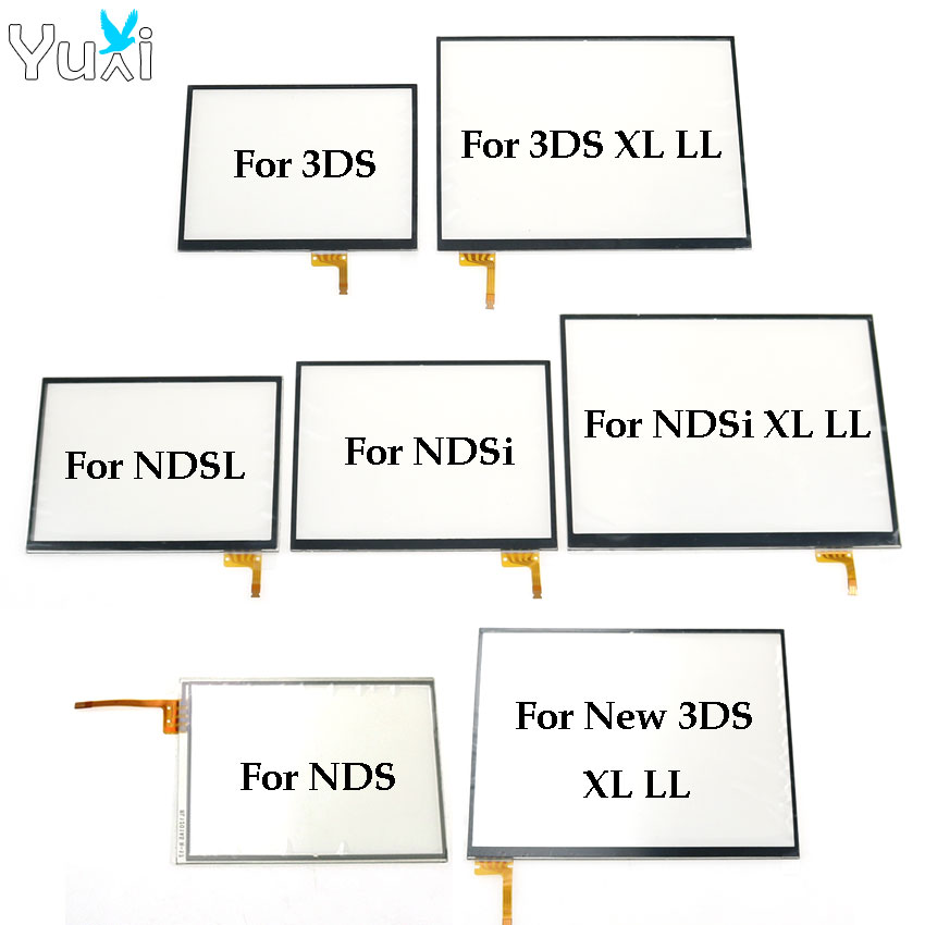 YuXi Replacement Touch Screen Panel Display Digitizer Glass For Nintendo DS Lite For NDSL NDSi New 3DS XL LL Console