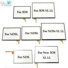 YuXi Panel z ekranem dotykowym wyświetlacz szkło digitizer dla Nintendo DS Lite dla NDSL NDSL nowy 3DS XL LL konsoli