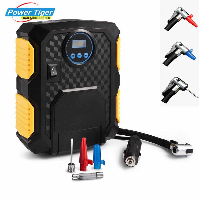 Compresor de aire de coche DC 12 V Inflador de neumáticos portátil Digital para bicicletas de automóvil motocicleta bomba eléctrica 150 PSI