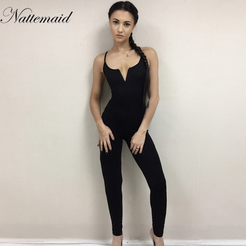 fad2f033801c NATTEMAID Jumpsuit Womens Romper Sexy Female Casual Streetwear New Arrival  One piece Slim Bodycon long Jumpsuits Overalls-in Jumpsuits from Women s  Clothing ...