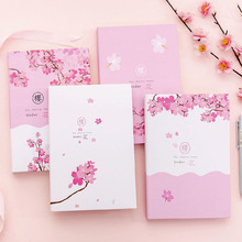 Japanese Cute Stationery sakura100Pages Pages Notebook Journal DIY Personal Diary Note Book цены онлайн