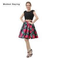 Сексуальная замочную скважину трапециевидной формы Цветочный принт бисером Кружево Бальные платья 2017 для Размеры 18 Обувь для девочек укор