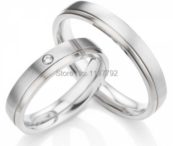 2014 Fashion silver color Jewelry  4mm engagement rings wedding bands promise rings sets