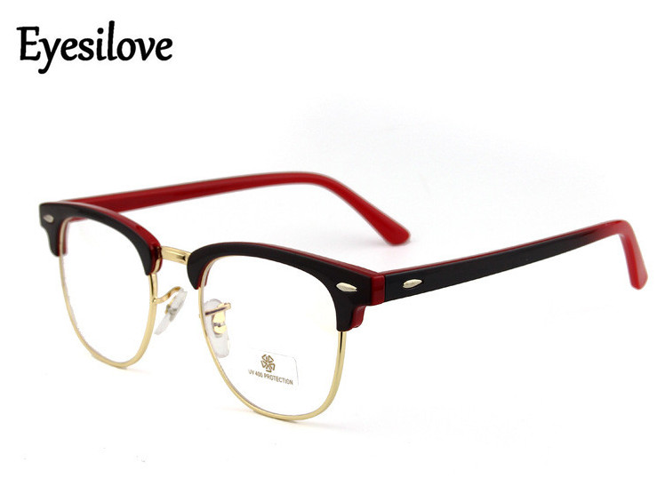 Eyesilove classic acetate Glasses Frame brand Women plain eyeglasses UV400 for computer mens eyewear prescription many colors