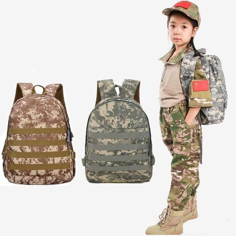 子供生徒コンピュータのバックパック子供屋外キャンプスポーツ旅行登山迷彩トレーニングエアガン軍事戦術バッグ