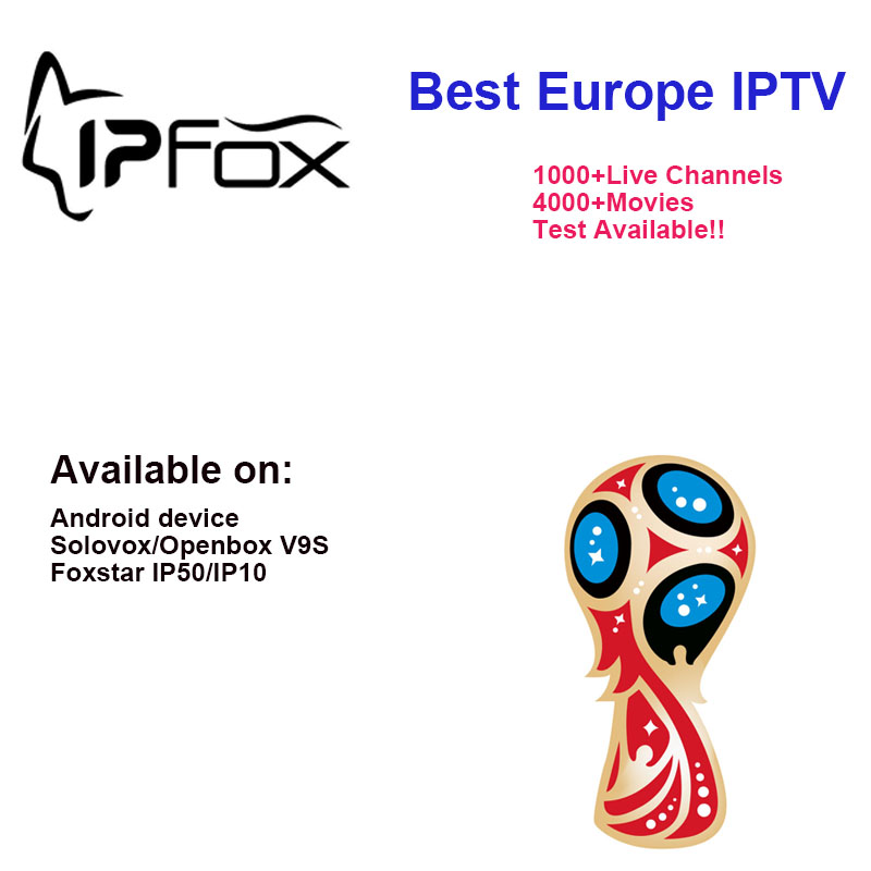 US $49 99 |2018 Hot Sale IPFOX IPTV use on FOXSTAR IP50/ IP10 Android box  V9S box Arabic French Spain UK USA Turkey channels 12 months -in Satellite