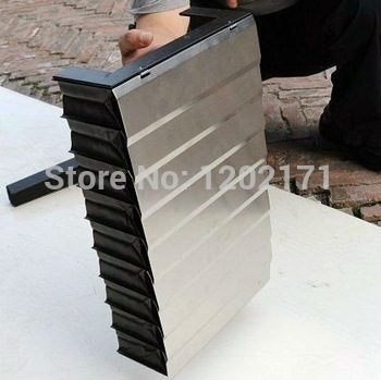 Custom made CNC armoured vertical bellows cover