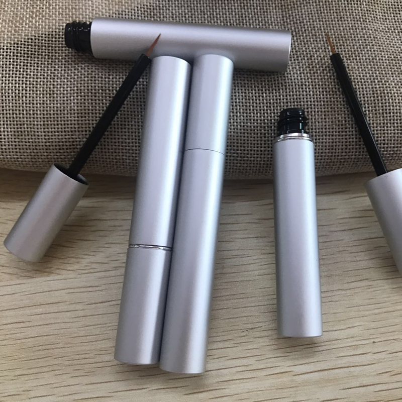 Hot 3ml Matte Silver Mascara Eyelash Growth Serum Tubes Empty Lash Lift Liquid Eye Liner Beauty Containers Packaging 20pcs 50pcs