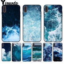 Yinuoda Blue sea DIY Printing Drawing Phone Case cover Shell for Apple iPhone 8 7 6 6S Plus X XS MAX 5 5S SE XR Cellphones yinuoda bull adventures coque shell phone case for apple iphone 8 7 6 6s plus x xs max 5 5s se xr cellphones
